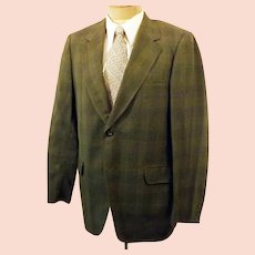 60's Middishade Glen Plaid Men's Sport Coat