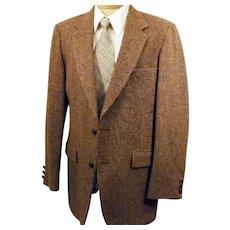 60s Clipper Craft Houndstooth Tweed Sport Coat