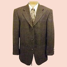 60's Hardy Amies Black Sport Coat Jacket