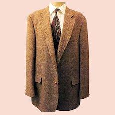 70s Harris Tweed  Houndstooth Sport Coat