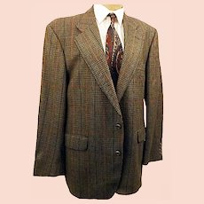 70's Cricketeer Mens  Glen Plaid  Sport Coat