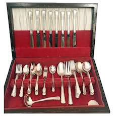 1951  May Queen by Holmes Edwards Silver Plate Flatware for 8 w Case