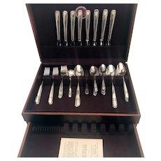 1938 Silver Plate Wm Rogers Mfg Co Talisman Flatware Set w Case