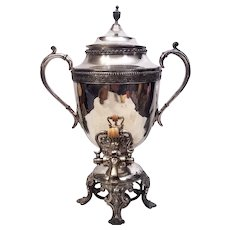 Antique 1900's Victorian Samovar Silver Plate Tea Server