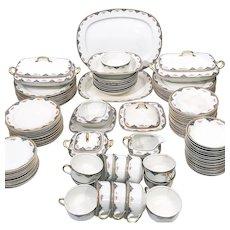 Rare 1915 Carrolton China Dinnerware Set for 12  107 pcs