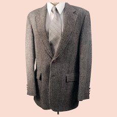 1970's Men's Harris Tweed Houndstooth Sport Coat
