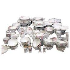 1918 Noritake Azalea Fine China Dinnerware Set