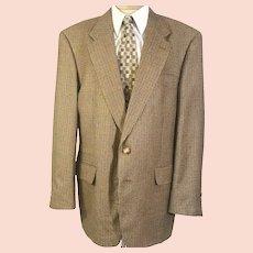 80's Burberry Men's  Silk & Wool Sport Coat