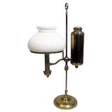 1870's Manhattan Brass Co Adj Student Desk Lamp