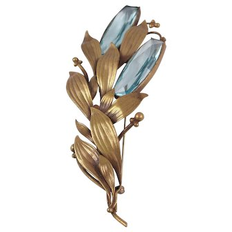 Large Joseff of Hollywood Floral Brooch