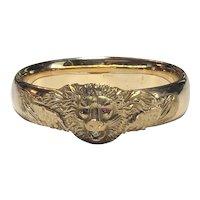 Victorian Gold Filled Lion Bangle