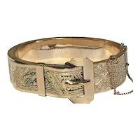 Victorian Gold Filled Buckle Bracelet
