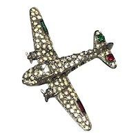 1940's Airplane figural brooch