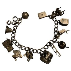 Sterling Silver Ornate Charm Bracelet