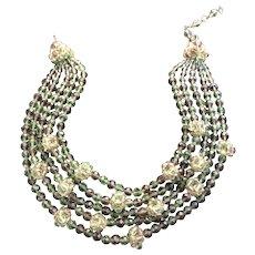 Vintage Coppola e Toppo Five Strand Necklace