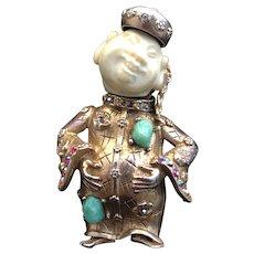 HAR Chinaman Figural Brooch