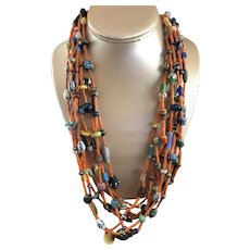 8 Strand Fenn Galrs Santa Fe Native American Necklace