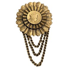 Large Joseff of Hollywood Brooch of Napoleon