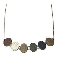 Victorian Multi Color Lava cameo necklace