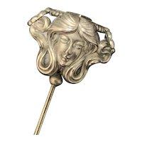 Sterling Art Nouveau Hatpin