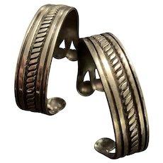 1930's-40's William Spratling Pair of Cuff Bracelets