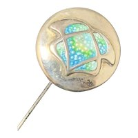Sterling Hatpin with Enamel