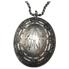 English Sterling Victorian locket and chain