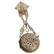 Victorian Pocket Watch Chatelaine