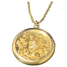 Victorian Gold Filled Repousse Locket