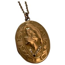 Gold Filled Victorian Locket