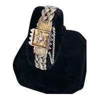 Victorian 18k Braided Mesh Bracelet