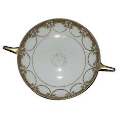 19thc Big Clearance Sale Art Nouveau Blue & White Tg Green Oval Platter Plate Antique