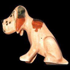 Vintage Pottery Blood Hound Hand Painted