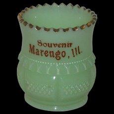 Custard Glass Souvenir Toothpick Holder, 1899, Tarentum Glass Co