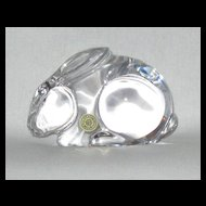 Val St Lambert Crystal Rabbit Paperweight Designed by Catherine de Sousa
