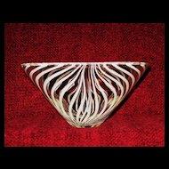 Kumela of Finland Hand Blown Art Glass Bowl, Scandinavian Design