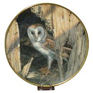Spode China Collector's Plate, Barn Owl by Seerey-Lester, Limited Certificate Artist Signed