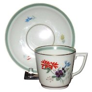 Royal Copenhagen Wildflowers Demitasse Set, Hand Painted