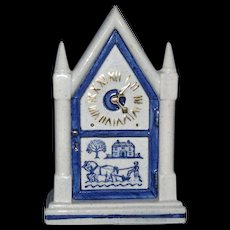 Metlox Blue Provincial Wall Pocket, Steeple Mantel Clock