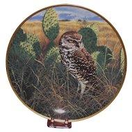 "Spode China ""Prairie Sundown"" Burrowing Owl Collector's Plate, Nature Artist John Seerey-Lester Ltd Ed."