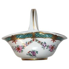 Bloch Porcelaine de Paris Hand Painted Basket