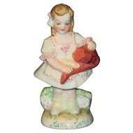 "Muller Volkstedt Irish Dresden ""Mary, Mary"" Little Girl Figurine"