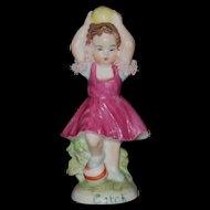 """Muller Volkstedt Irish Dresden """"Catch"""" Little Girl Figurine"""