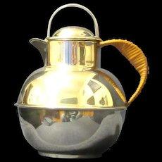 """Guernsey Milk Can"" Silver Plated Tea Pot, E.G. Webster & Son"