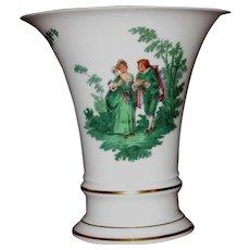 Furstenberg Trumpet Vase, Courting Couples, Watteau Pattern