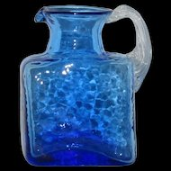 Pilgrim Cobalt Blue Rock Crystal Petite Art Glass Pitcher