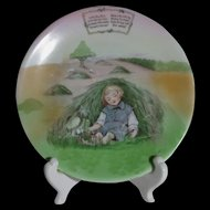 Royal Bayreuth Little Boy Blue Children's Plate, Nursery Rhyme