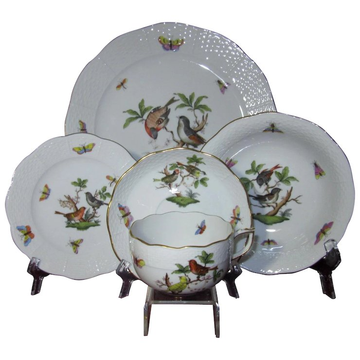 Herend Dinnerware Five Piece Place Setting (4 Settings Available)  sc 1 st  Ruby Lane & Herend Dinnerware Five Piece Place Setting (4 Settings Available ...