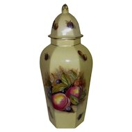 Aynsley Hexagonal Ginger Jar with Domed Lid, Orchard Gold