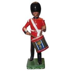 W. Britain Cast Metal Royal Grenadier Marching Side Drummer